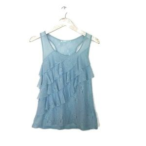 ⬇️ MAURICES Lace Ruffle Racerback Tank Top Large